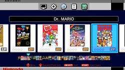 Nintendo Classic Mini NES Hauptmenü