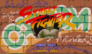 Street Fighter 1 opening Screen