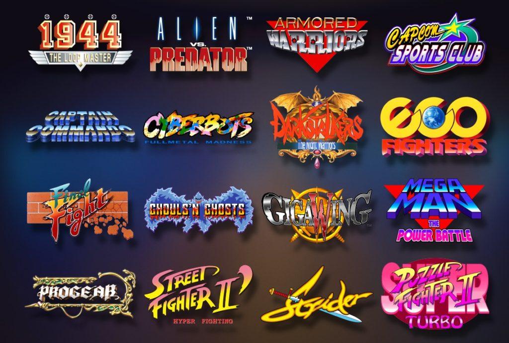 Capcom Home Arcade Spieleliste
